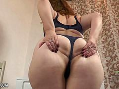 Voluptuous red-haired a pair of Mom XXX