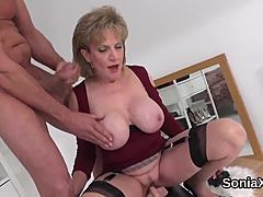 Adulterous uk MILF woman sonia reveals her monstrous wobblers movie scene mature tube